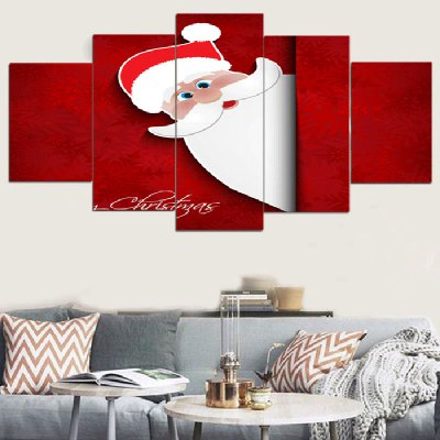 Santa Claus Pattern Wall Art Split Canvas Paintings