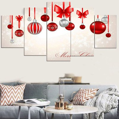 Baubles Printed Unframed Canvas Paintings