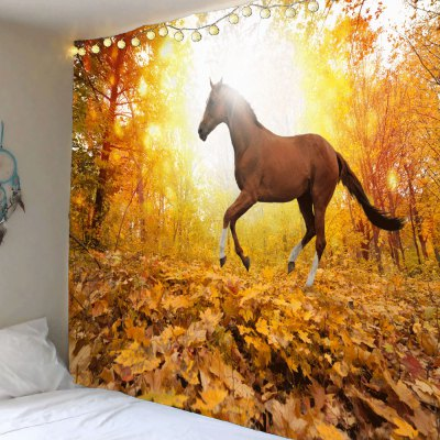 Sunset Forest Horse Pattern Wall Art Tapestry