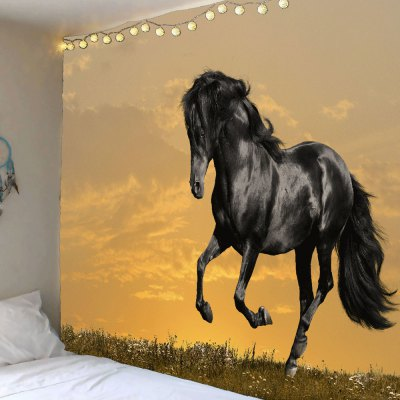 Sunset Running Horse Pattern Hanging Wall Tapestry