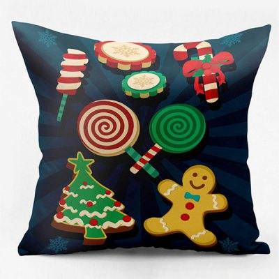 Christmas Elements Double Side Printed Decorative Pillow Case
