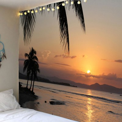 Sunset Scenery Printed Home Decorative Tapestry