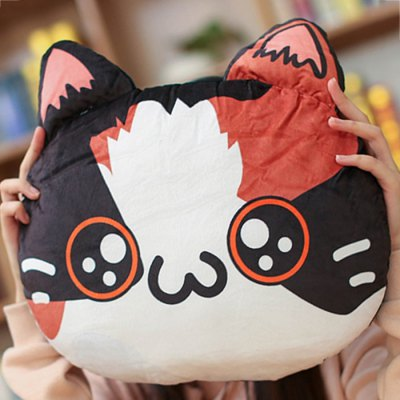 Personality 3D Cat Emoji Cushion Throw Pillow
