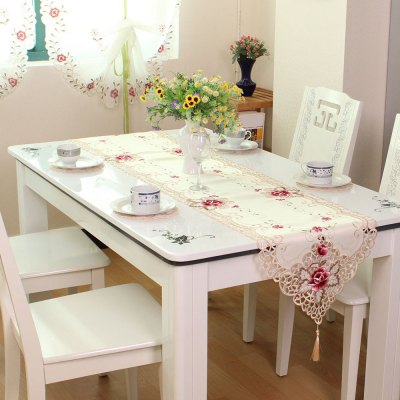 Satin Jacquard Embroidered Home Decorative Table Runner