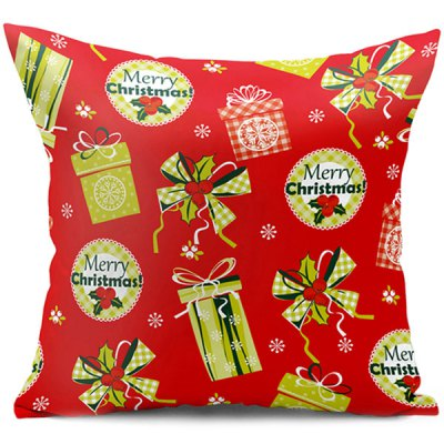 Christmas Gift Double Side Printed Decorative Pillow Case