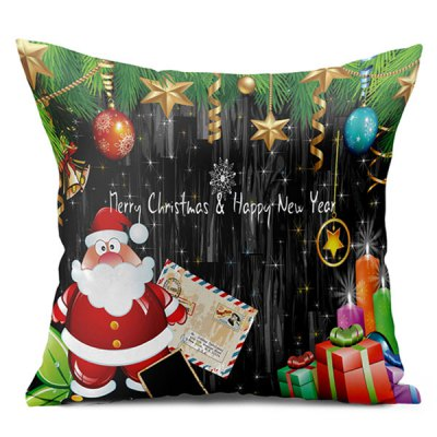 Christmas Double Side Printed Decorative Throw Pillow Case