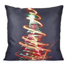 Colorful Lighting Christmas Tree Pattern Decorative Pillow Case