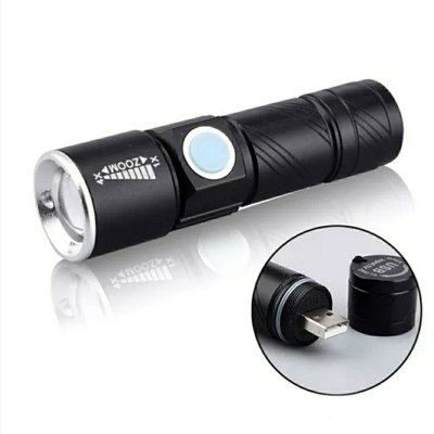 Mini Outdoor Rechargeable USB Flashlight For Riding