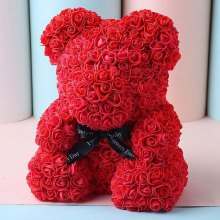 Wedding Party Decoration Valentine's Day Gift Artificial Roses Bear
