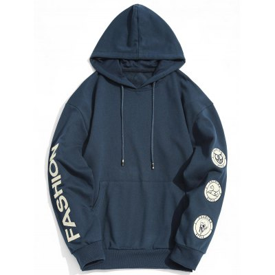 Fashion Graphic Patch Hoodie
