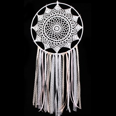 Fringed Handmade Crochet Lace Dreamcatcher For Decoration