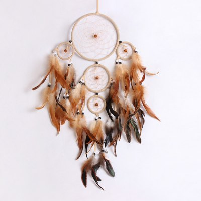 Beaded Feather Handmade Dreamcatcher For Decoration