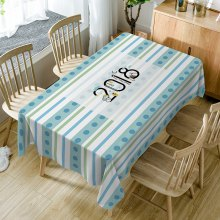 2018 Stripe Print Waterproof Dining Table Cloth
