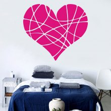 Valentine's Day Red Heart Wall Sticker