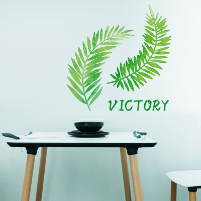 Leaves Letter TV Background Wall Sticker