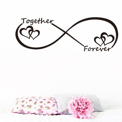 Together Forever Entwined Love Hearts Wall Sticker