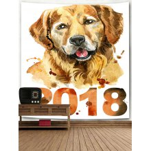 2018 Dog Printed Wall Hanging Tapestry
