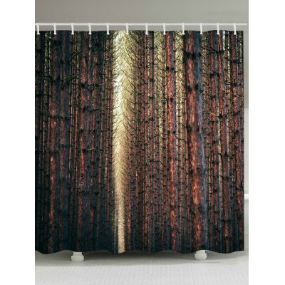 Straight Tree Branch Shower Curtain