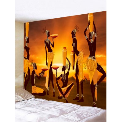 Wall Hanging Decoration African Women Paiting Print Tapestry