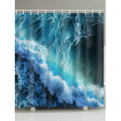 Ocean Waves Print Shower Curtain