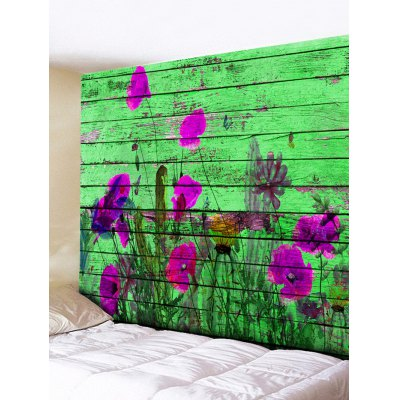 Wall Hanging Decoration Flowers Wood Board Print Tapestry