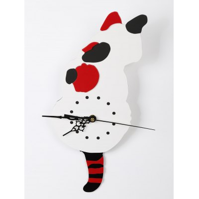 Swaying Cat Shaped Wall Clock