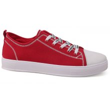 Stitches Casual Low Heel Canvas Shoes