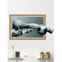 3D Playing Soccer Decorative Wall Sticker