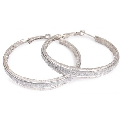 Dull Polish Round Alloy Earring for Ladies