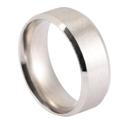 ФОТО Men Solid Round Stainless Steel Ring