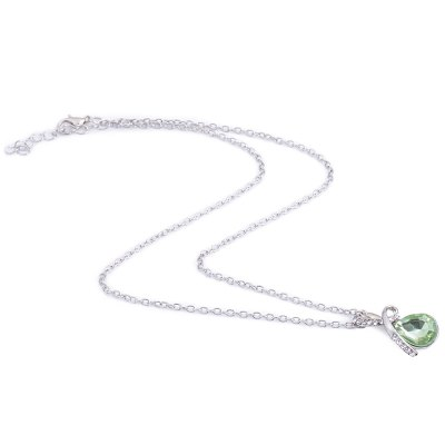 Romantic Water Drop Crystal Embellished Chokers NecklacesNecklaces &amp; Pendants<br>Romantic Water Drop Crystal Embellished Chokers Necklaces<br><br>Gender: For Women<br>Item Type: Pendant Necklaces<br>Metal Type: Alloy<br>Necklace Type: Link Chain<br>Material: Crystal<br>Length of Chain: 47.1cm / 18.51inch<br>Style: Romantic<br>Shape/Pattern: Water Drop<br>Size of Pendant: 2.8cm x 1.5cm x 0.8cm / 1.10inch x 0.59inch x 0.31inch<br>Width: 0.2cm x 0.08inch<br>Weight: 0.025KG<br>Package Contents: 1 x Chokers Necklace
