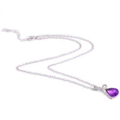 Romantic Water Drop Crystal Embellished Chokers Necklaces
