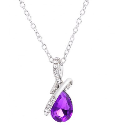 Water Drop Crystal Embellished Chokers Necklaces