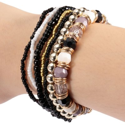 Old Classical Multi Layers Bead Stretch Bracelets
