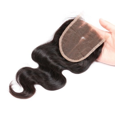 Three Part Brazilian Swiss Lace Closure Body Wave Human Remy Hair Weave 8a brazilian lace frontal closure body wave 13x4 with baby hair bleached knots free middle 3 parts frontals dreaming queen hair