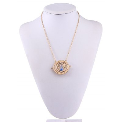 Time Converter Hourglass Hollow Out Star Necklaces