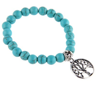 Unisex Tree Bead Anti Fatigue Handwork Bracelets
