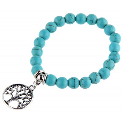 Tree Bead Anti Fatigue Handwork Bracelets for Men Women