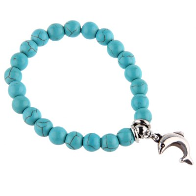 Unisex Dolphin Bead Anti Fatigue Handwork Bracelets