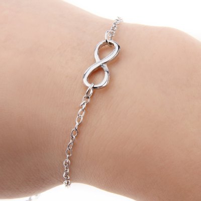 Ladies 8 Shape Pendant Alloy Bracelets