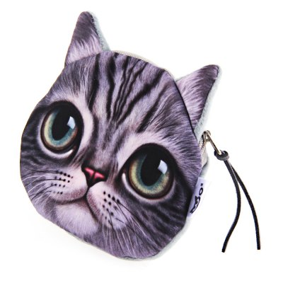 Novelty 3D Cartoon Cat Floral Zipper Design Unisex Change PurseCoin Purse &amp; Card Holder<br>Novelty 3D Cartoon Cat Floral Zipper Design Unisex Change Purse<br><br>Gender: Unisex<br>Style: Fashion<br>Closure Type: Zipper<br>Pattern Type: Character<br>Main Material: Nylon<br>Length(CM): 11cm / 4.32inch<br>Width: 10.5cm / 4.13inch<br>Height: 1.5cm / 0.59inch<br>Product weight: 0.015 kg<br>Package weight: 0.037 kg<br>Product size (L x W x H): 11.00 x 10.50 x 1.50 cm / 4.33 x 4.13 x 0.59 inches<br>Package size (L x W x H): 6.00 x 6.00 x 4.00 cm / 2.36 x 2.36 x 1.57 inches<br>Package Contents: 1 x Change Purse
