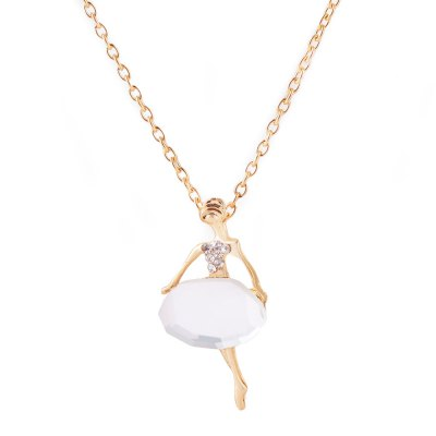 Ballet Girl Design Rhinestone Embellished NecklaceNecklaces &amp; Pendants<br>Ballet Girl Design Rhinestone Embellished Necklace<br><br>Gender: For Women<br>Item Type: Pendant Necklaces<br>Metal Type: Alloy<br>Necklace Type: Link Chain<br>Material: Rhinestone<br>Length of Chain: 70.6cm / 27.75inch<br>Style: Trendy<br>Shape/Pattern: Figure<br>Size of Pendant: 4.5cm x 2.2cm x 0.4cm / 1.77inch x 0.86inch x 0.16inch<br>Width: 0.2cm / 0.0786inch<br>Weight: 0.030KG<br>Package Contents: 1 x Necklace