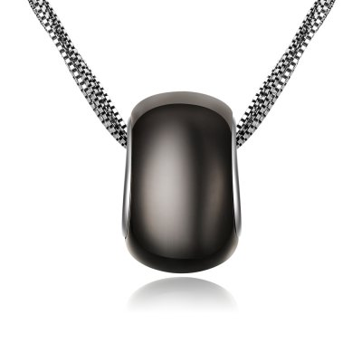 Oil Drip Siver Plated Women Multi Layers Necklace