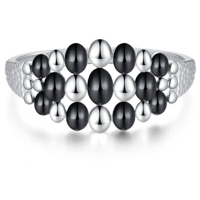 Oil Drip Platinum Plated Women Bangle