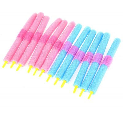 12pcs / Set Soft Foam Anion Bendy Hair Rollers Curlers Cling