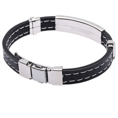 Men Simple Round Stainless Steel Bangle