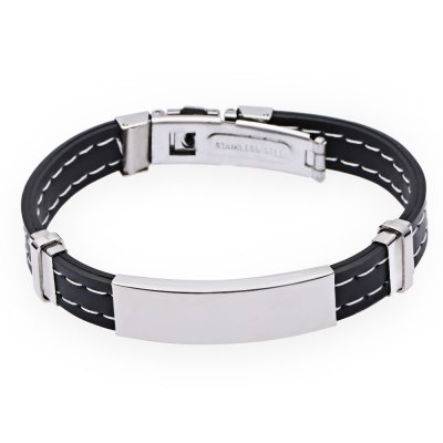 Men Simple Round Stainless Steel BangleBracelets &amp; Bangles<br>Men Simple Round Stainless Steel Bangle<br><br>Gender: For Men<br>Item Type: Bangle<br>Metal Type: Stainless Steel<br>Diameter of Bangle: 6.9cm / 2.72inch<br>Style: Trendy<br>Shape/Pattern: Gemetric<br>Weight: 0.040kg<br>Package Contents: 1 x Bangle