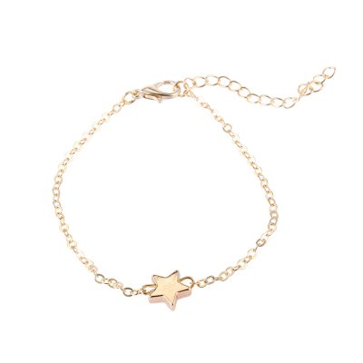 Five Pointed Star Pattern Ladies Alloy Bracelet