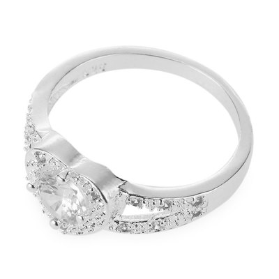 Ladies Love Heart Design Rinestone Embellished Ring