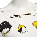 Casual Round Collar Short Sleeve Cartoon Print Large Size Loose Women T-shirt photo